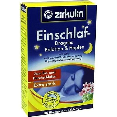 ZIRKULIN Einschlaf Dragees Baldrian+Hopfen 80St PZN: 0515661