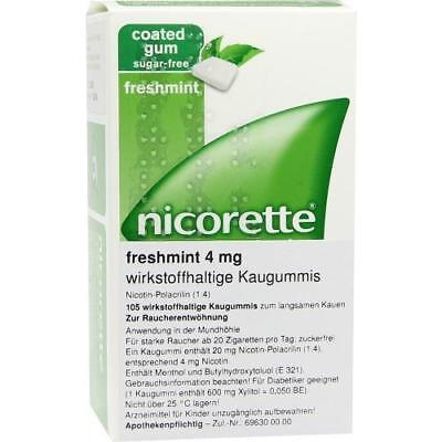NICORETTE 4 mg freshmint Kaugummi 105 St PZN 6680119