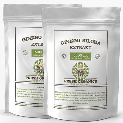 250-1000 Tabletten Ginkgo Biloba 6000mg Konzentration Ginko no Kapseln Gingko