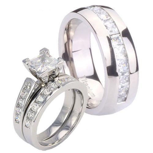 Titanium Wedding Band Sets EBay