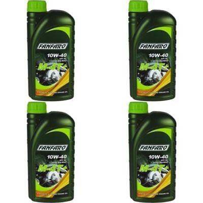Aceite 10W40 Lubricante Moto Sintético 4T Plus / Fanfaro Fabricación Alemana 4L