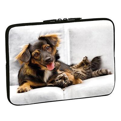 Design Notebook Schutzhülle 15,6 Zoll Laptop Hülle Tasche - Hund Katze Dog Cat