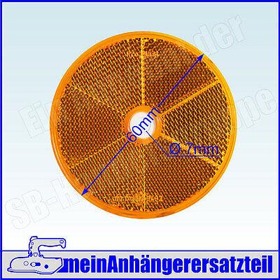 Rückstrahler Katzenauge runder Strahler Seitenstrahler rund 60mm gelb orange
