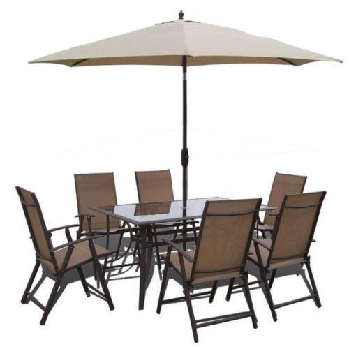 Garden Table And Chairs Umbrella