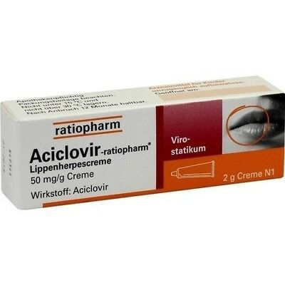 ACICLOVIR-ratiopharm Lippenherpescreme 2 g 02286360
