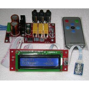 Pga Volume Remote Control Lcd Pre Amplifier Kit Diy