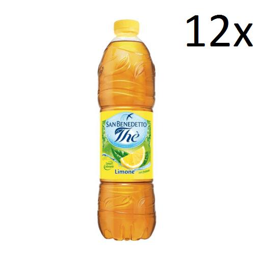 12x San benedetto Eistee The' Zitrone PET 1,5L tea erfrischend