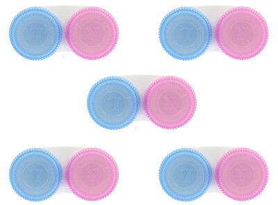 5x Kontaktlinsenbehälter Linsenbehälter Linsenbox mit Schraubverschluß SPARPREIS