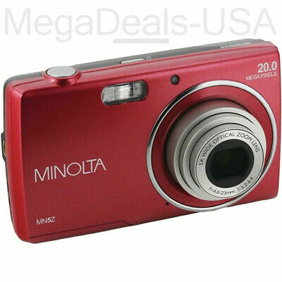 Minolta MN5Z-R 20-megapixel Mn5z Hd Digital Camera With 5x Zoom - (H5)