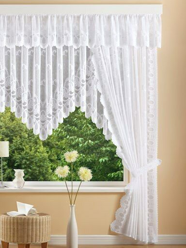 Jacquard Qualität Fertiggardinen Seitenschal Querbehang  Blumenfenster Stores