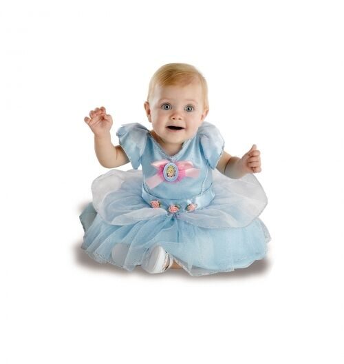 Infant Cinderella Costume Girls Blue Princess Fancy Dress Toddler Baby Child NEW