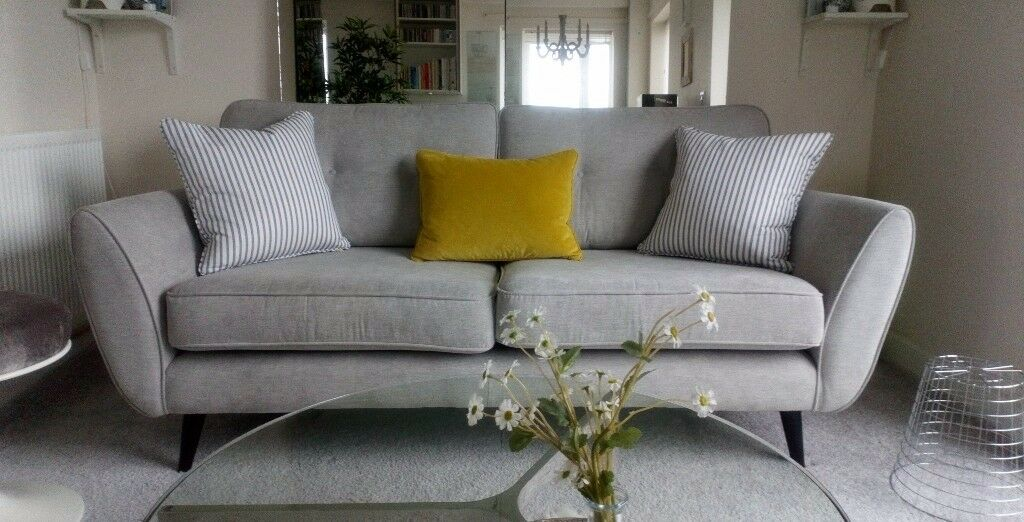 Modern 3 Seater French Connection Zinc Sofa In Trafford Manchester Gumtree