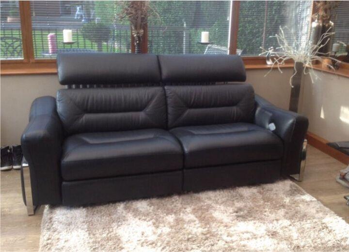 San Remo 3 Seater Power Recliner Sofa Wwwlooksisquarecom - San-remo-contemporary-leather-sofa