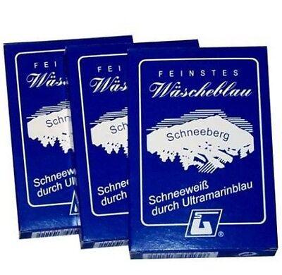 (5,63 €/100g) Wäscheblau Ultramarin Gardinen Waschmittel Wäscheweiss 15x10g #GB