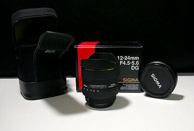 Sigma Weitwinkel Zoom Objektiv 12-24 f/4,5-5,6 DG Canon EOS Bajonettanschluss