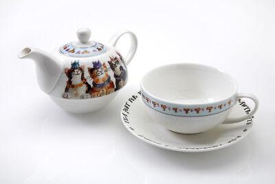 Königlich Furmily Tee für einen Set Teekanne Untertasse Tasse Katze