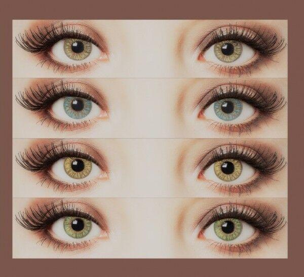 aricona Natürliche Farbige Kontaktlinsen Farblinsen Make-up Highlight blau grün