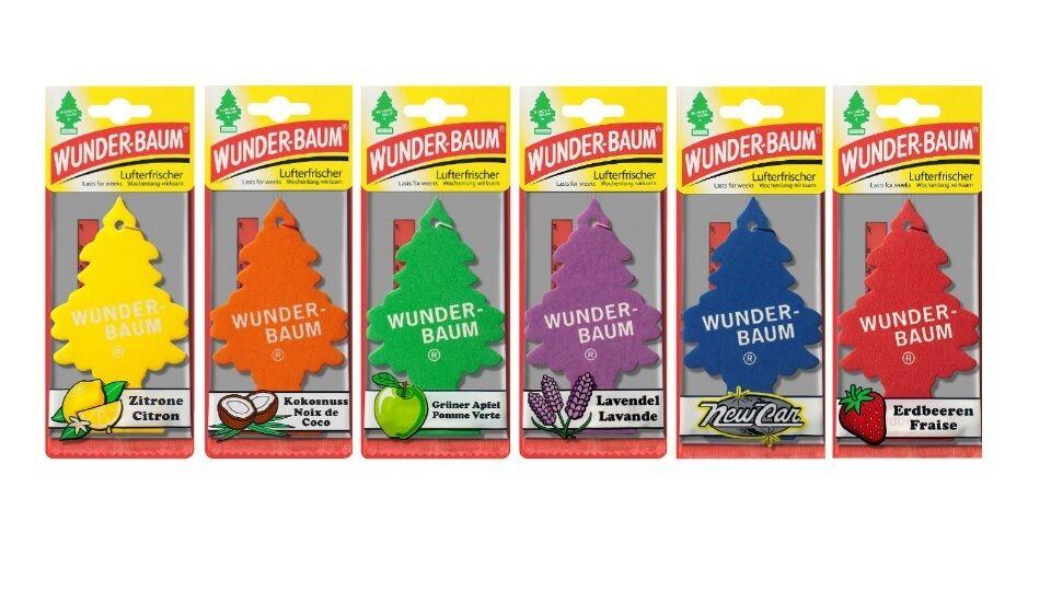Wunderbaum® Lufterfrischer für Auto & Wohnung - 20 Sorten zur Auswahl - Set´s