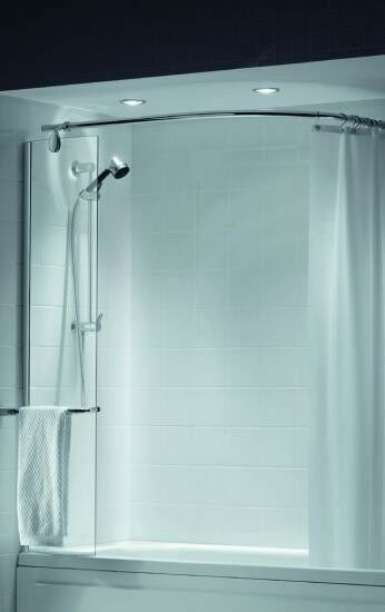 Shower Screen With Curtain Rail Glif Org