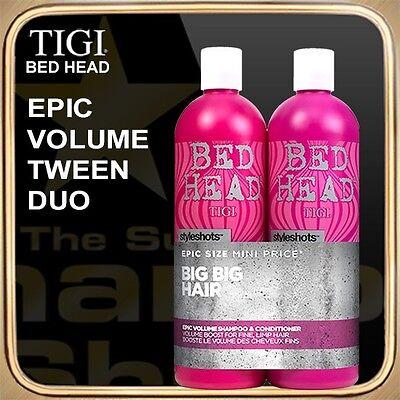 EPIC VOLUME Shampoo Conditioner (2x750ml) BED HEAD TIGI Tween Duo