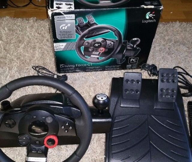 Logitech Driving Force Gt Racing Wheel For Pc Ps3 Ps2