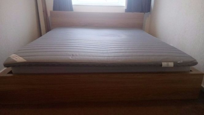Super King Size Bed Plus Mattress And Topper