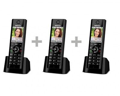 AVM FRITZ!Fon C5 Trio Telefon Festnetztelefon 3er Set Komfort-Schnurlostelefon
