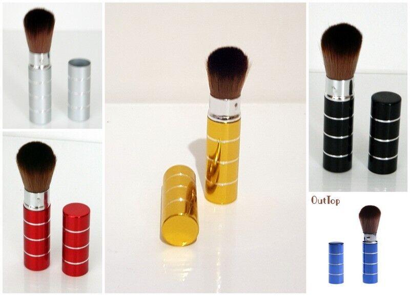 Pinsel Rouge Puder Kosmetik einziehbar Metall Hülle 6 Farben