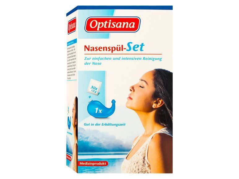 Nasenspül-Set + 30x 1,8g Salz Nasendusche Nasenspülung Nasenspülsalz Spülung TOP