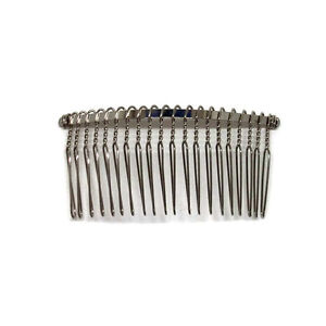 12 metal hair bs 20 wire teeth silver bridal prom supply accessory 3 77mm