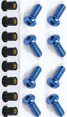 Moto Azul Anodizado Kit Pernos para Cúpula - Bolfairbu