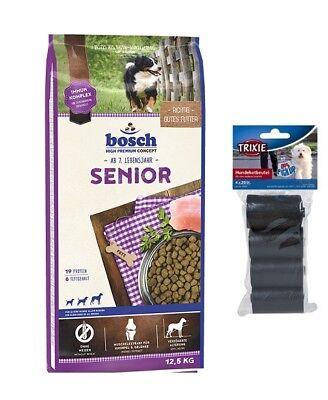 12,5kg Bosch Senior Hundefutter  + 80 Stk. Kotbeutel