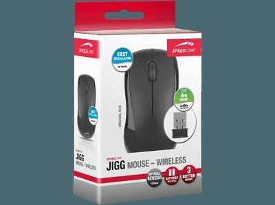 SPEEDLINK Jigg Funk Maus - Wireless, schwarz ergonomische Form robust 7632
