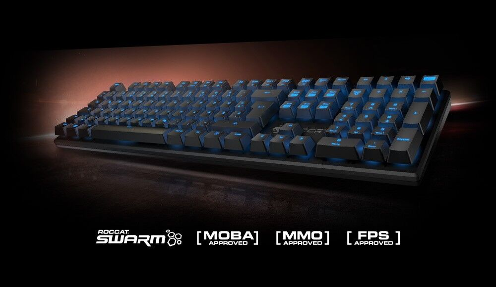 +DE ROCCAT SUORA QWERTZ Tastatur Mechanisch Mechanical PC USB Gaming Keyboard