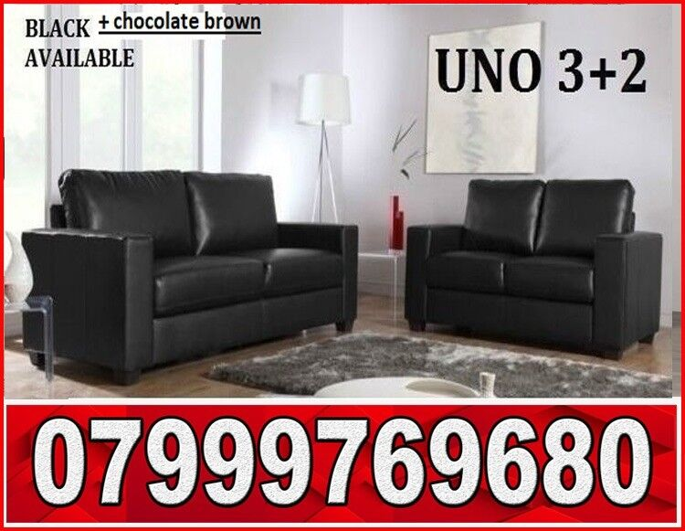 3 2 Italian Leather Sofa Brand New Black Or Brown Sofas Fast
