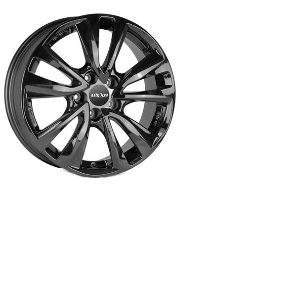4x NEUE Alufelgen OXXO Oberon 5 Black 7.5J X 17 Zoll LK 5 X 108 ET 52.5 black