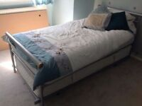 Single Bed With Pull Out Guest Silver Trundle On Wheels Truckle