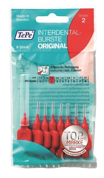 TePe Interdentalbürsten rot Orginal  - 8 Stück Zahnzwischenraumbürste