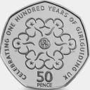 2010 50P COIN RARE GIRL GUIDING ASSOCIATION 100TH Girlguiding FIFTY PENCE b