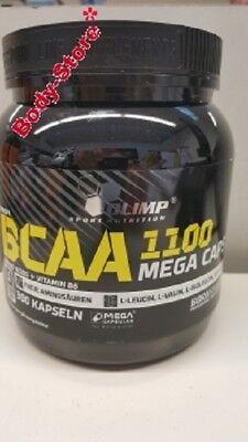 (61,76€/kg) Olimp BCAA Mega Caps 1100 mg 300 Kapseln Stück PLUS PROBE Aminosäure