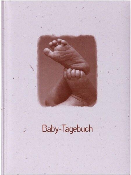 HENZO Babytagebuch FÜßE Babyfotoalbum Babyalbum Baby Tagebuch zur Geburt Taufe