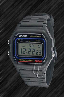 Casio Classic, schwarz, Retro-Style digital Uhr,W-59-1V, Alarm, 50m Wasserdicht