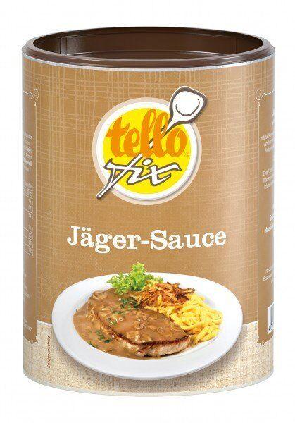 (EUR 17,48/kg) tellofix Jäger-Sauce, Bratensoße mit Champignons o. GSV (400 g)