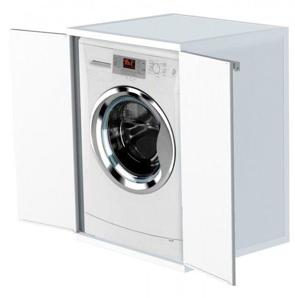 Waschmaschinenschrank Trocknerschrank Kunststoffschrank Haushaltsschrank Weiß