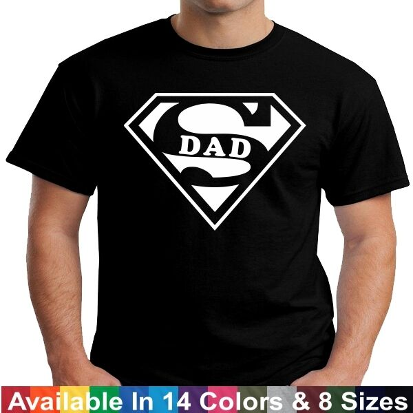 SUPER DAD Funny Daddy Husband Fathers Day Birthday Christmas Gift Tee T Shirt