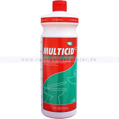 Dr. Schnell Multicid Sanitärreiniger & Kalklöser Entkalker Badreiniger 1 L