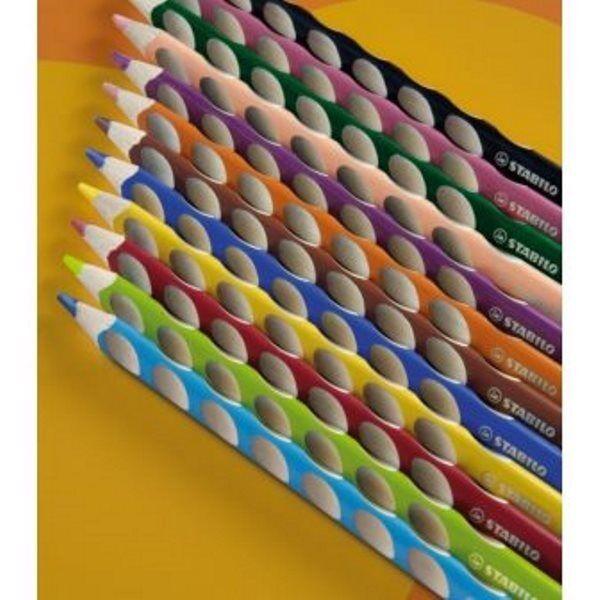 10 STABILO EASYcolors ergonomische Dreikant-Buntstifte,für Linkshänder
