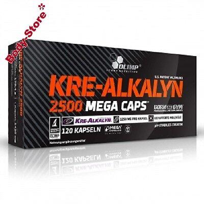 Olimp KRE-ALKALYN 2500 Mega Caps 120 Stück Masseaufbau Creatin