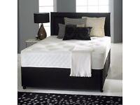 Memory Foam Divan Bed Set 10 Dual Turn Mattress Headboard Optional Storage