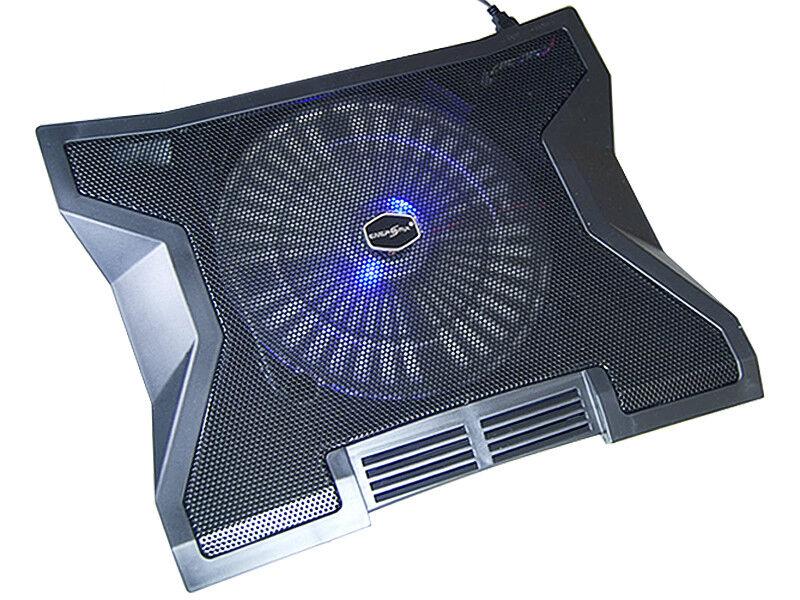 Notebook Laptop Kühler Kühlepad mit USB Hub 23 cm Lüfter für 15 17 Zoll